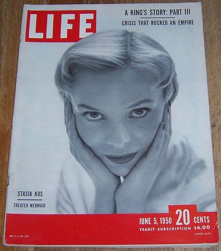 Life Magazine June 5, 1950 Stasia Kos on Cover/Sugar Ray Robinson/King's Story