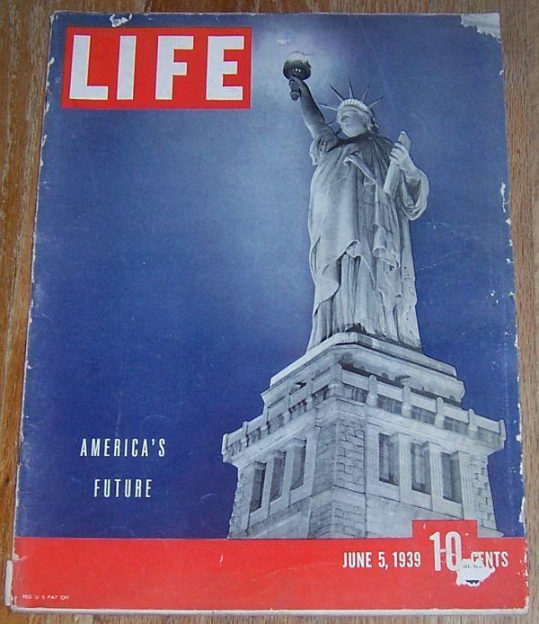 Life Magazine June 5, 1939 America's Future on cover/Comic Strips/World's Fair