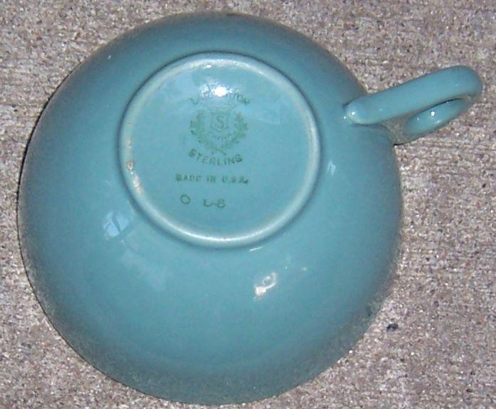 Lamberton China Restaurant WareTurquoise Coffee Cup