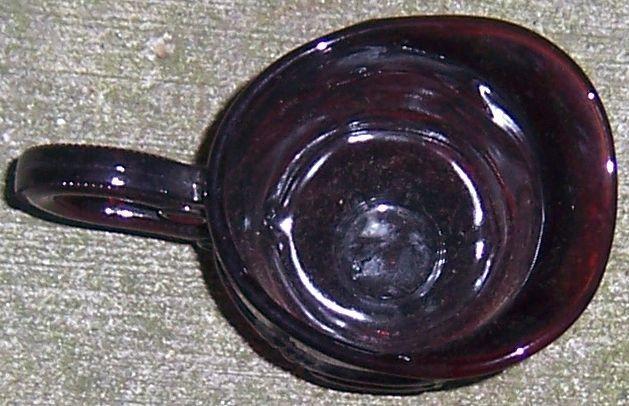 Vintage Avon Cape Cod Ruby Red Glass Creamer