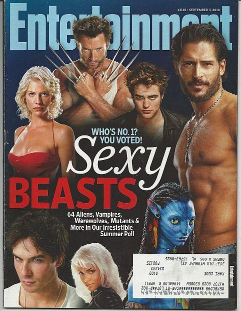 Entertainment Weekly Magazine September 3, 2010 Sexy Beasts on the Cover/Duets