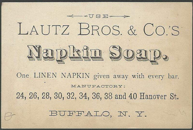 Victorian Trade Cards for Acme Soap Willie Don't Fall Lautz Bros. Buffalo, NY