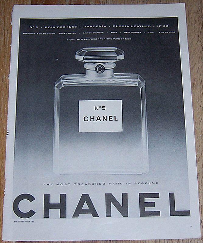 1957 Chanel No. 5 Perfume Life Magazine Advertisement