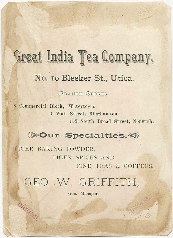 Victorian Trade Card Great India Tea Co Courting Couple Fragrant Recollection