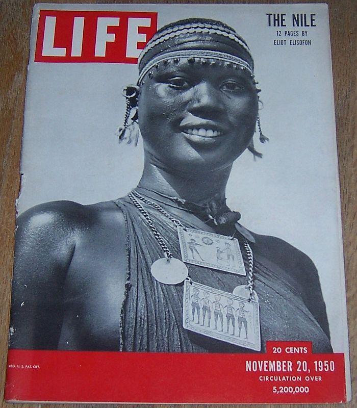 Life Magazine November 20, 1950 The Nile/ Ice Capades/Somerset Maugham/Elections