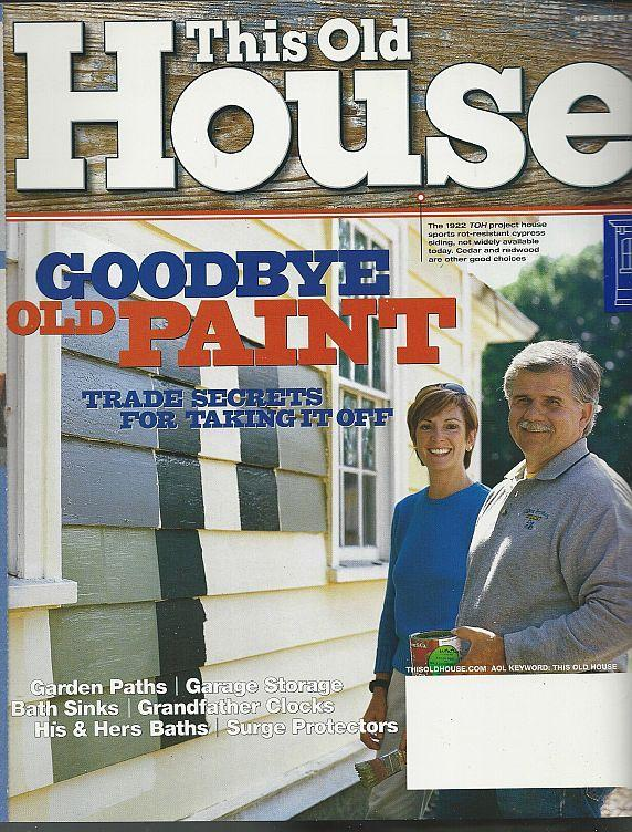 This Old House Magazine November 2002 Goodbye Old Paint Cover/Garden Paths/Sinks