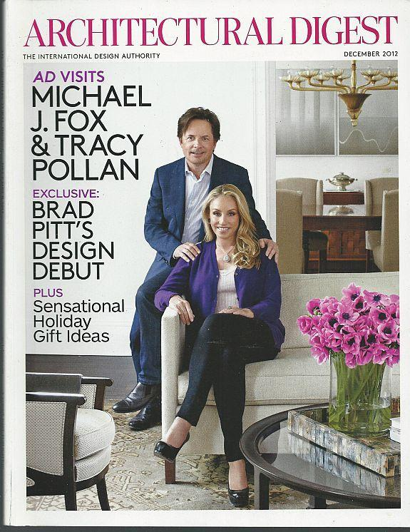 Architectural Digest Magazine December 2012 Michael Fox and Tracy Pollan Cover