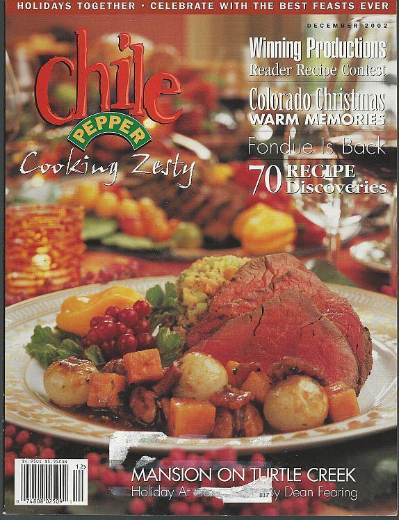 Chile Pepper Magazine December 2002 Home for the Holidays/Colorado/Fondue/Malta