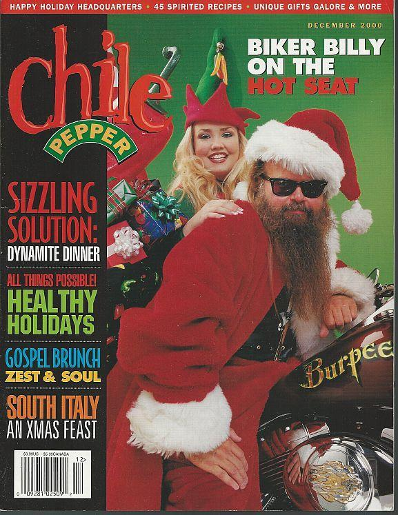 Chile Pepper Magazine December 2000 Cheese is Hot/Southern Flair/Christmas