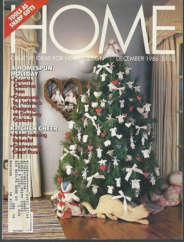 Home Magazine December 1986 Homespun Holiday/Christmas Decorating/Tools/Solar