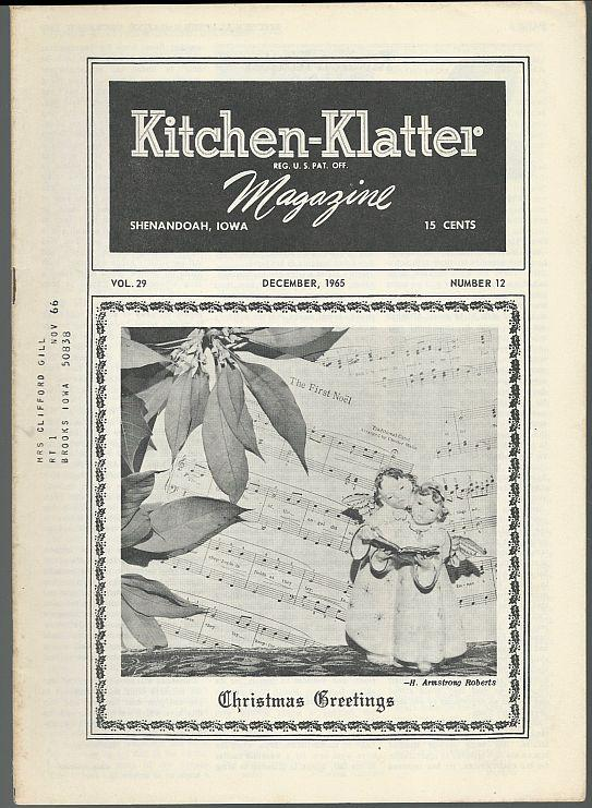 Kitchen Klatter Magazine December 1965 Christmas Trees/Things to Make/Recipes