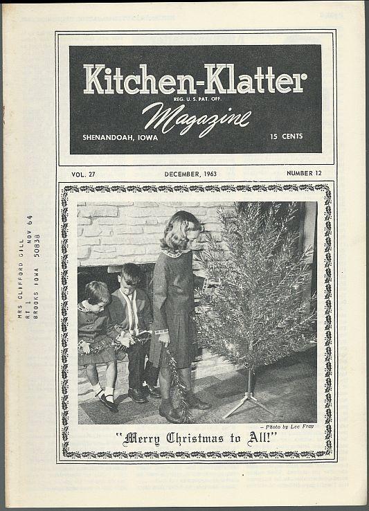 Kitchen Klatter Magazine December 1963  Night Before Christmas/Fun/Recipes