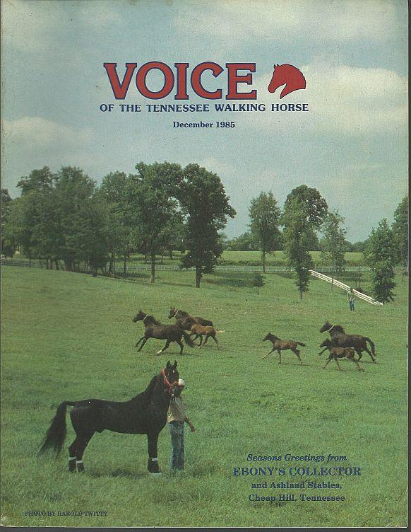 Voice of the Tennessee Walking Horse Magazine December 1985 Ebony's Collector