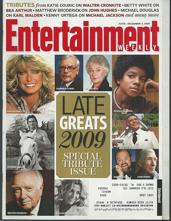 Entertainment Weekly Magazine December 4, 2009 Late Greats 2009 Special Tribute
