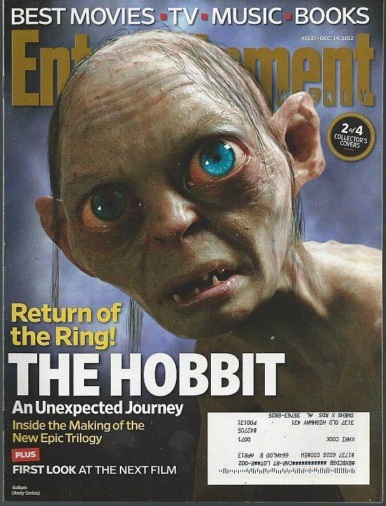 Entertainment Weekly Magazine December 14, 2012 Gollum on Cover/Streisand