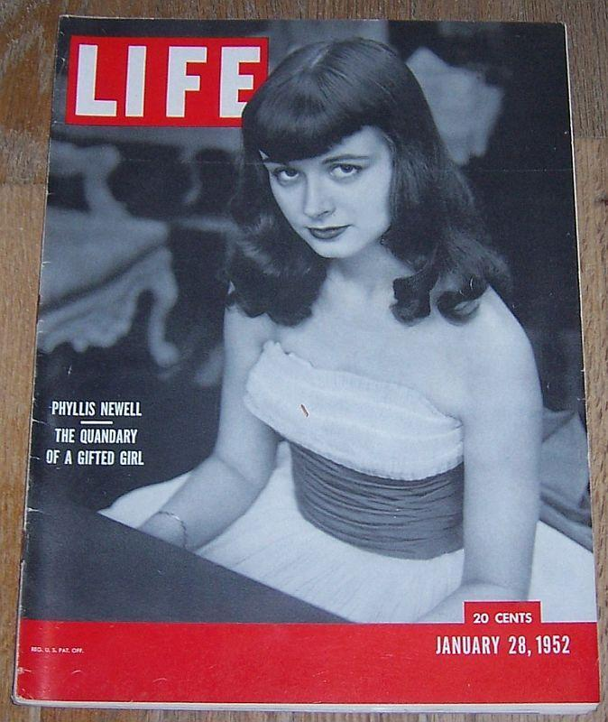 Life Magazine January 28, 1952 Phyllis Newell Cover/Everglades/NJ Turnpike