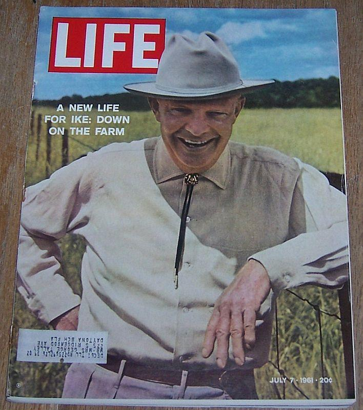 Life Magazine July 7, 1961 Ike on the Farm/ Kennedy's Campaign/Susannah York
