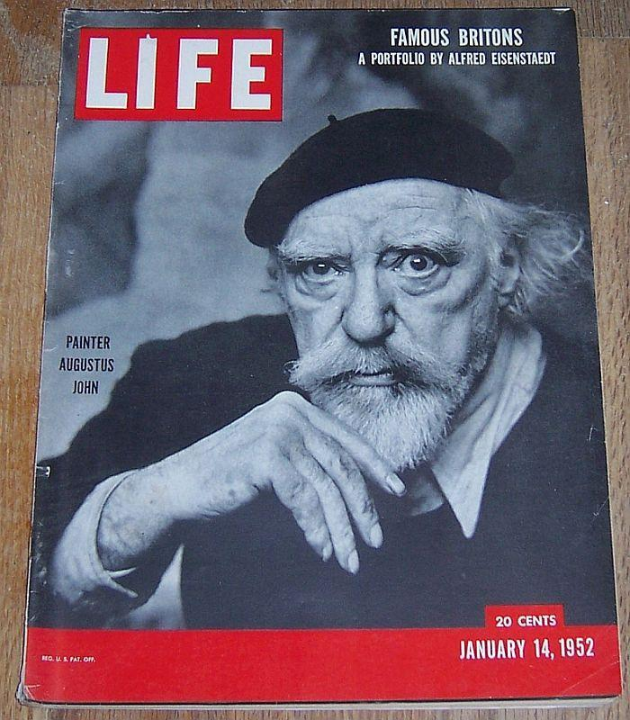 Life Magazine January 14, 1952 Portfolio of Distinguished Britons by Eisenstaedt