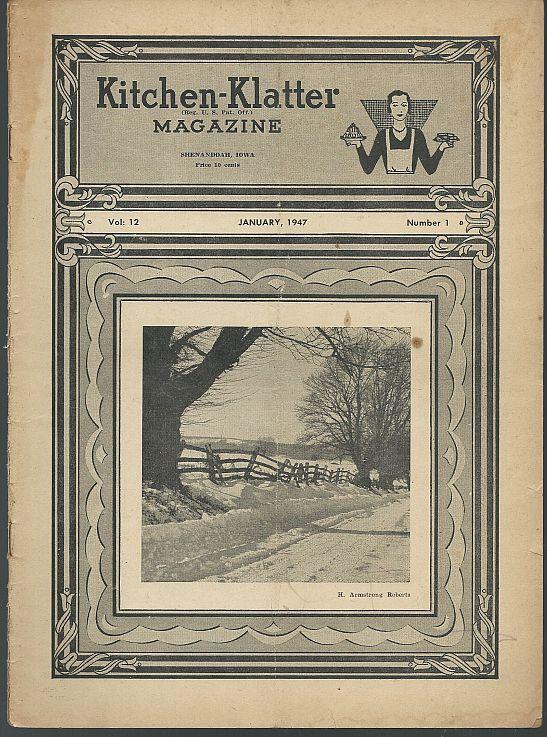 Kitchen Klatter Magazine January 1947 Window Gardening/Parties/Games/Recipes