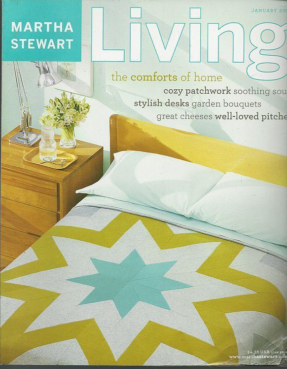 Martha Stewart Living January 2003 Patchwork/Winter Soups/Cheese/ Desks/Flowers