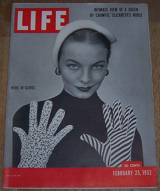 Life Magazine February 25, 1952 Gloves/Paul Cezanne/Dog Show/Queen Elizabeth