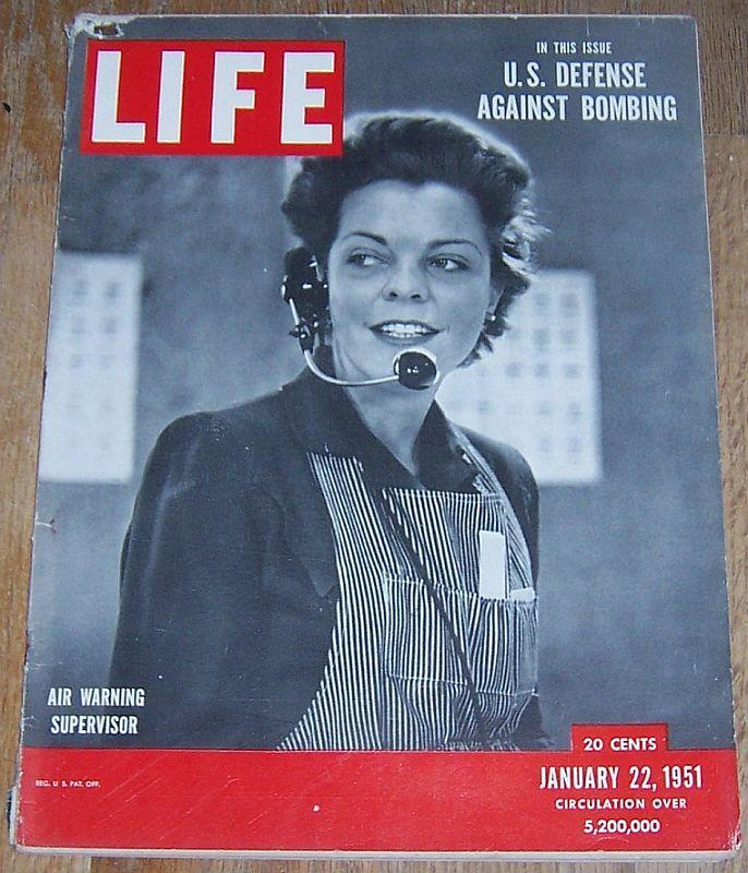 Life Magazine January 22, 1951 Air Defense/Raoul Dufy/Sinclair Lewis/Hockey