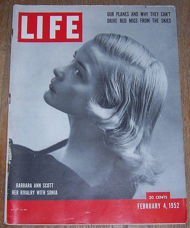 Life Magazine February 4 1952 Barbara Ann Scott/Military Aviation/Eugene O'Neill