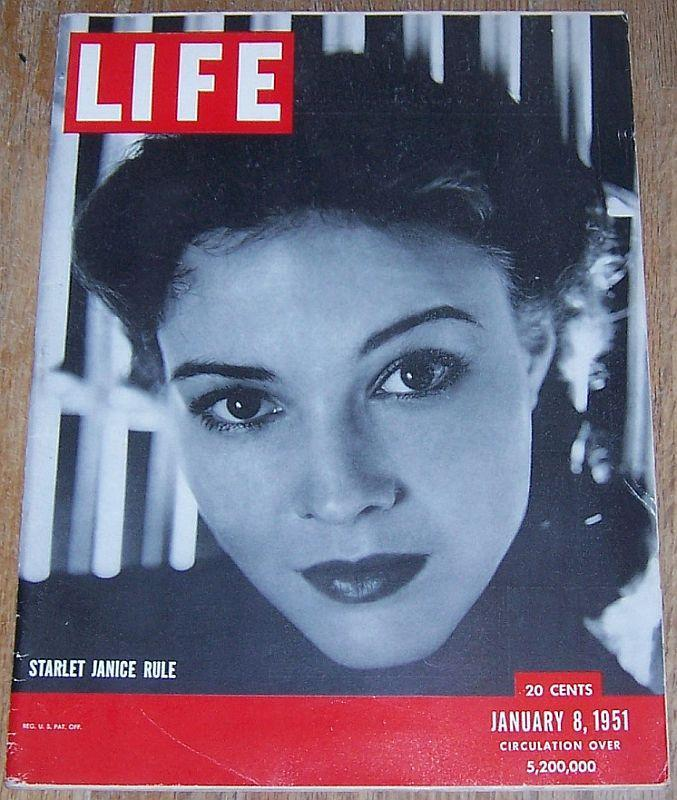 Life Magazine January 8, 1951 Janice Rule/St. Louis Zoo/Chaim Gross/Chinatown