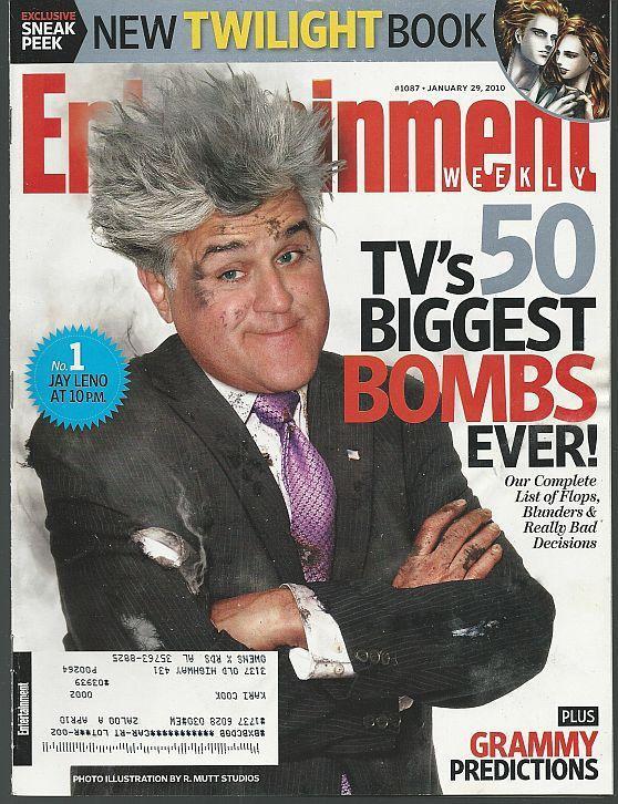 Entertainment Weekly Magazine January 29, 2010 Jay Leno TV Bombs/Grammy