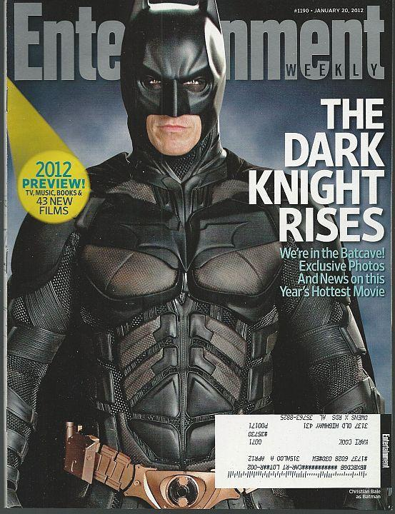 Entertainment Weekly Magazine January 20, 2012 Batman Rises Cover/Magic Mike