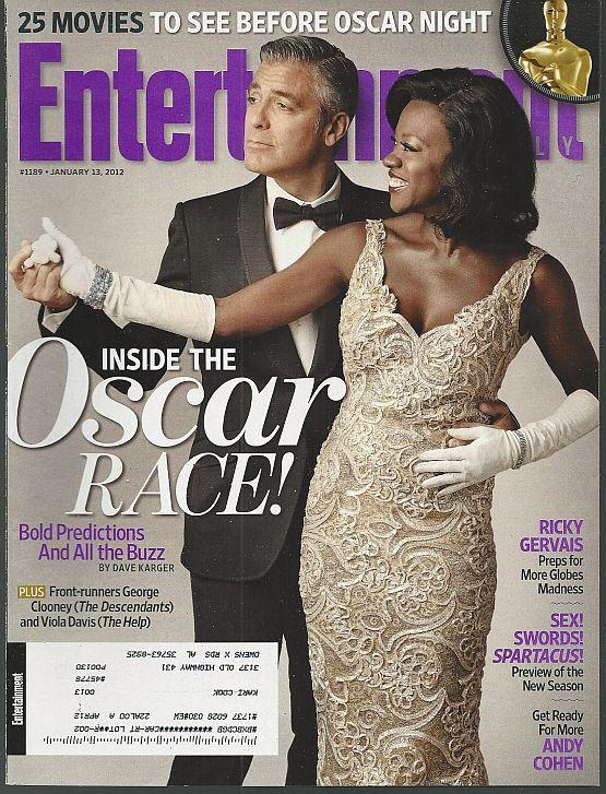 Entertainment Weekly Magazine January 13, 2012 Oscar Race/Clooney and Viola