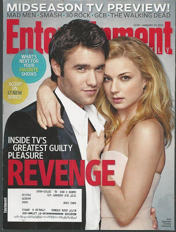 Entertainment Weekly Magazine January 27, 2012 Revenge/Katharine McPhee/Smash