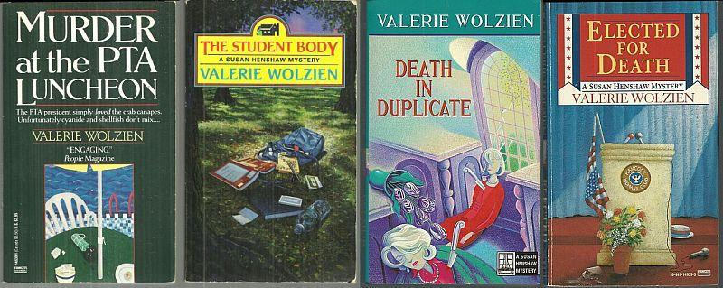 Lot of Four Susan Henshaw Cozy Mysteries by Valerie Wolzien #1, 10, 12 and 16
