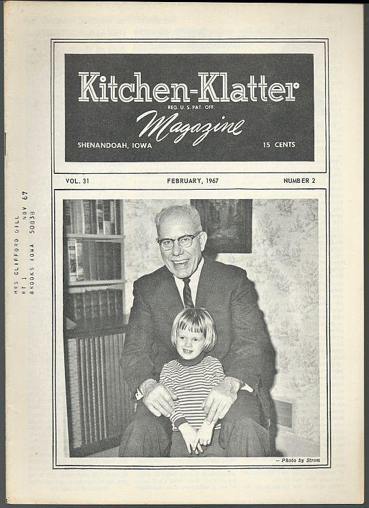 Kitchen Klatter Magazine February 1967 Valentine's/ Laura Ignalls Wilder/Recipes