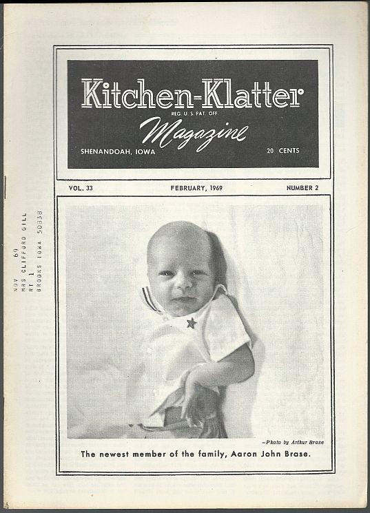 Kitchen Klatter Magazine February 1969 Valentine Party/Clocks/Pencils/Recipes