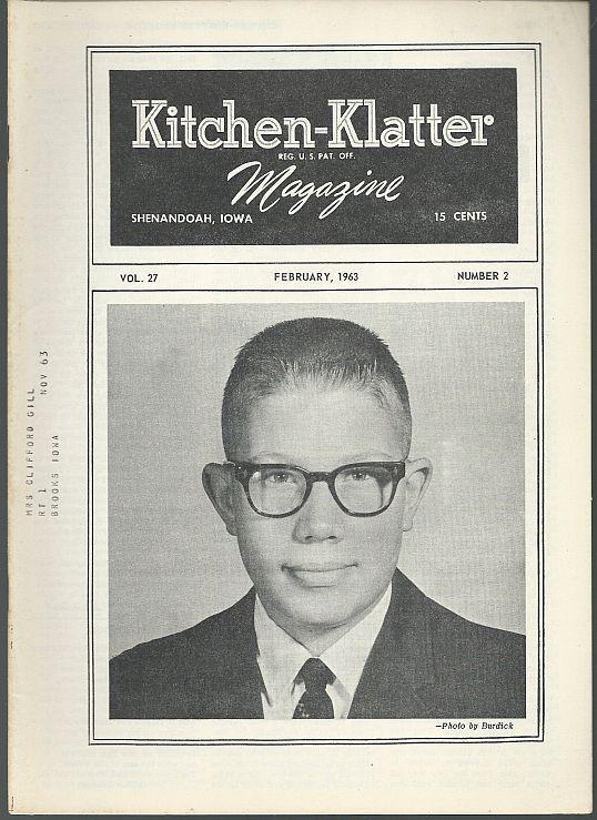 Kitchen Klatter Magazine February 1963 Valentine's Day/Quilting/Recipes