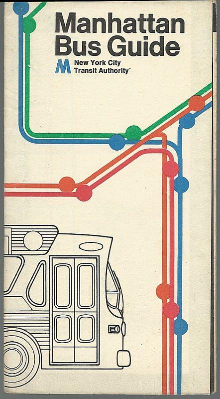Vintage 1975 Manhattan Bus Guide Folded Map