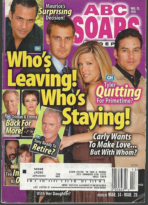 ABC Soaps in Depth Magazine March 28, 2006 Lindze Letherman/Adrianne Leon