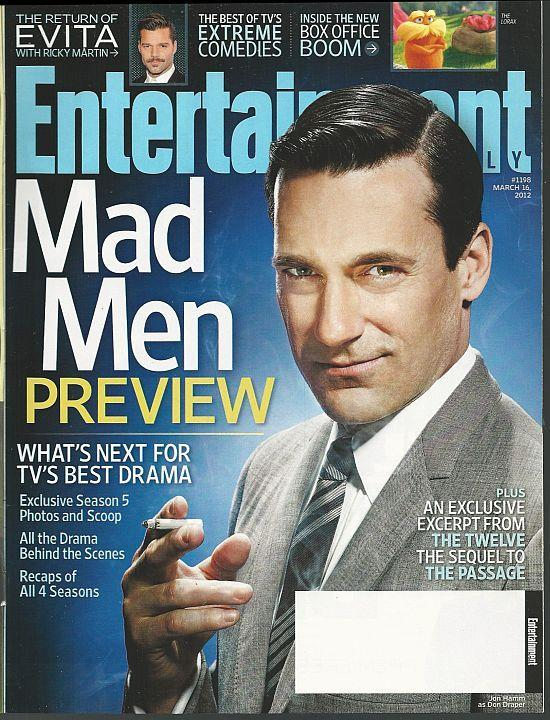 Entertainment Weekly Magazine March 16, 2012 Mad Men Preview/Evita/Mike Nichols