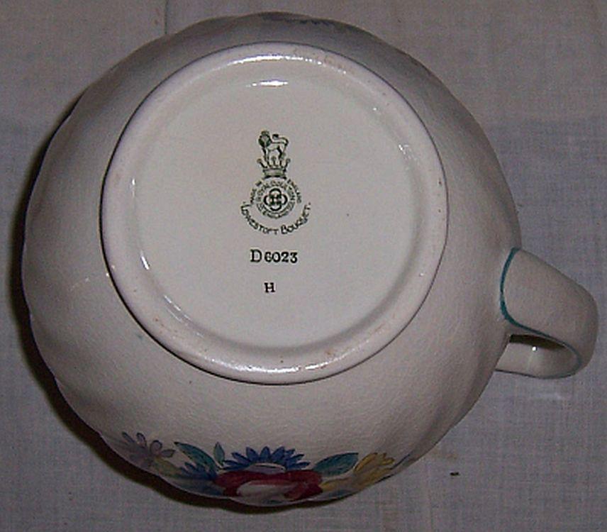 Vintage Royal Doulton England China Lowestoft Bouquet Pitcher D6023