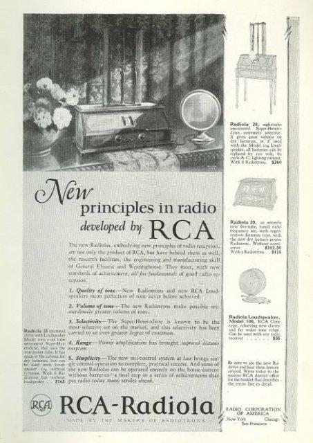 RCA-Radiola 1925 Magazine Advertisement