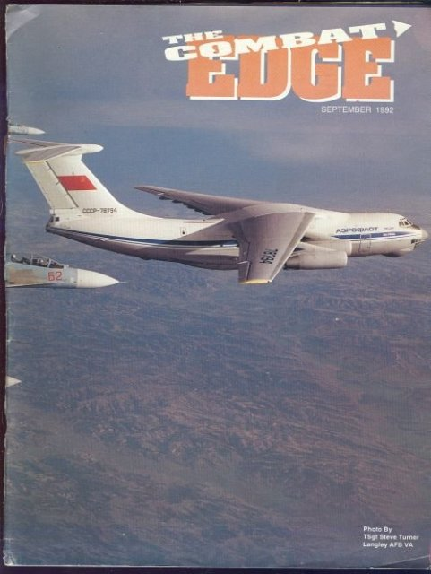 Combat Edge Magazine September 1992 Air Combat Safety