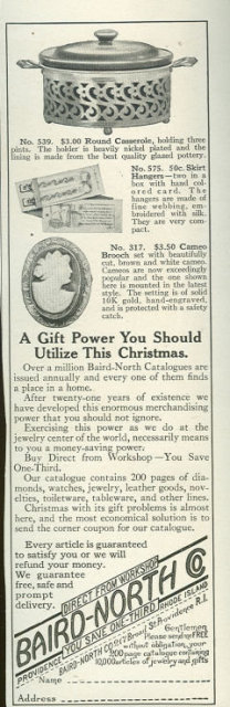 Baird-North Mail Order Jewelers 1916 Advertisement