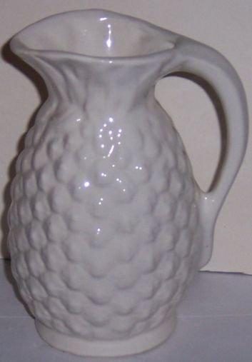 Shawnee USA Pottery White Pineapple Pitcher