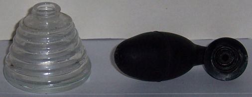 Vintage DeVilbiss Clear Perfume Atomizer with Black Top