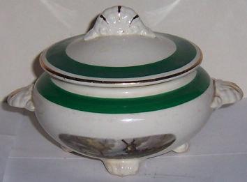 Homer Laughlin Amsterdam Nautilus Sugar Bowl with Lid