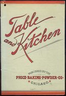 Table and Kitchen Price Baking Powder Recipe Booklet