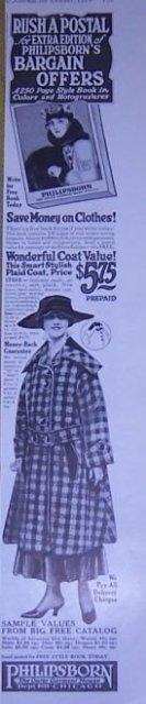 Philipsborn Outer Garment 1916 Magazine Advertisement