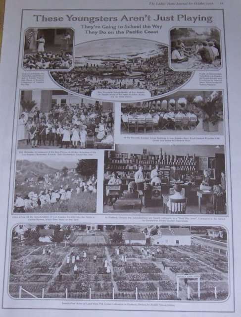 1916 Ladies Home Journal Page of School Children