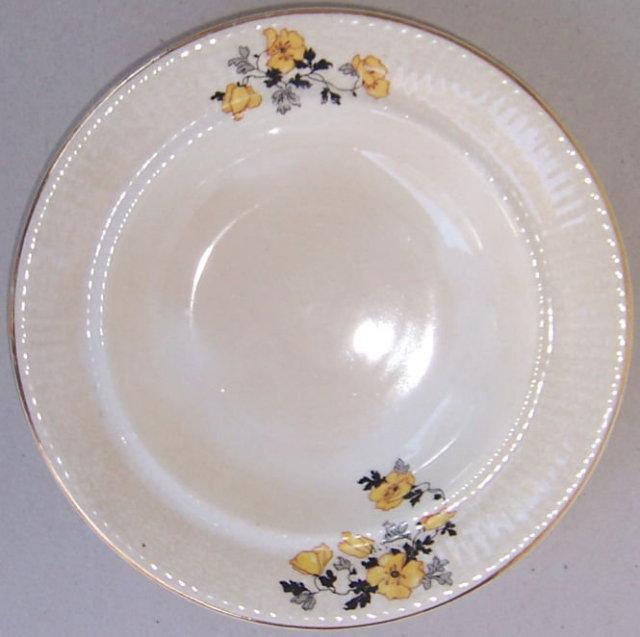 W. S. George China Astor Yellow Poppy Soup Bowl